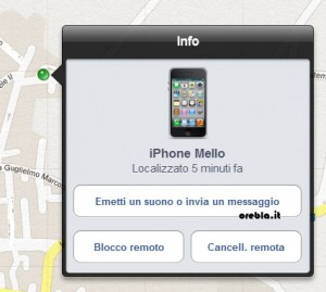 iCloud iPhone localizzato