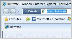 Internet Explorer 8 InPrivate