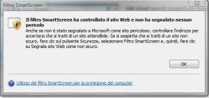 Internet Explorer 8: Filtro SmarScreen
