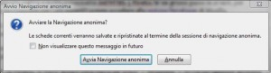 Firefox 3.5: Navigazione anonima