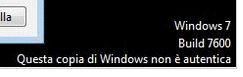 Windows7: copia non autentica