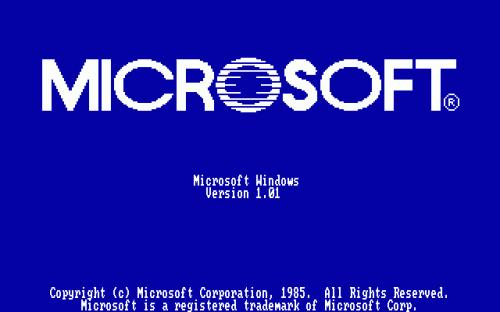 Prima scheramta di avvio Windows 1.0
