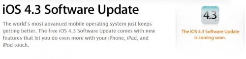 Annunciato iOS 4.3