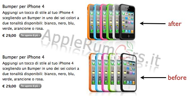 Apple Store Cancella iPhone 4 bianco??