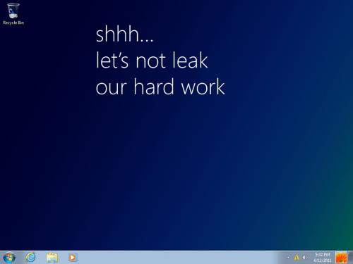 Windows 8 Milestone 1 Desktop
