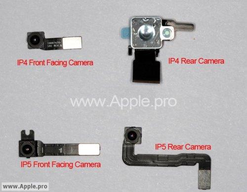 iPhone 5 fotocamera frontale e posteriore