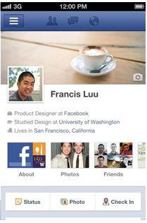 Facebook 4.1 timeline