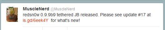 MuscleNerd update Redsnow tweet