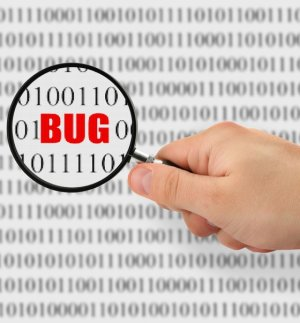concept of searching for a bug, binary code is abstract