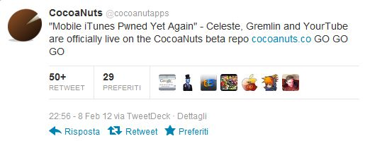CocoaNuts tweet