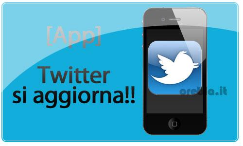 Twitter app aggiornamento
