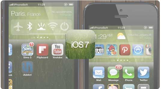 iOS 7 con widget. Concept