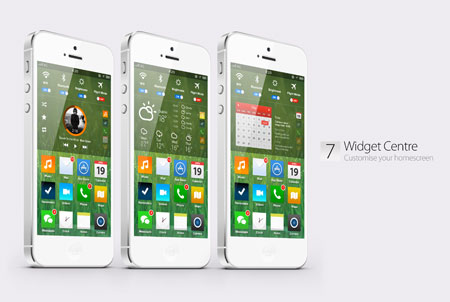 Concept Nuova Home Screen per iOS 7