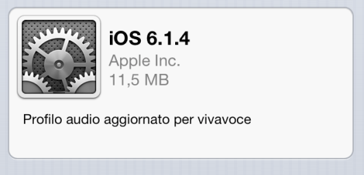screnshot ios 6.1.4 update