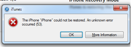 error53 iphone