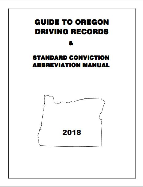 Oregon Department of Transportation : DMV Manuals