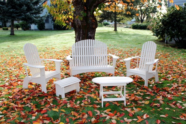 adirondack chairs portland oregon barrel lounge chair health authority outdoor furniture loveseat and painted in white