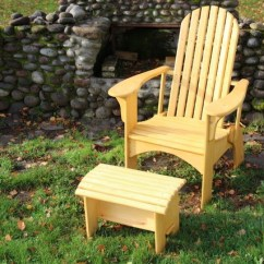 Adirondack Chairs Portland Oregon Springs For Health Authority Outdoor Furniture Chair And Ottoman On Grass Next To Fireplace