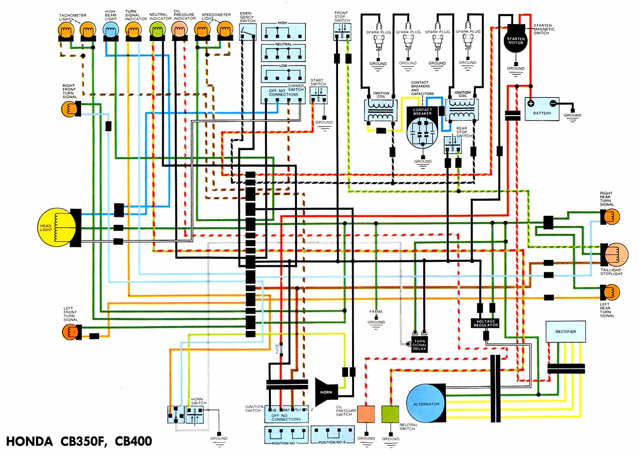 hight resolution of wiring diagramscb400 and cb350 four jpg