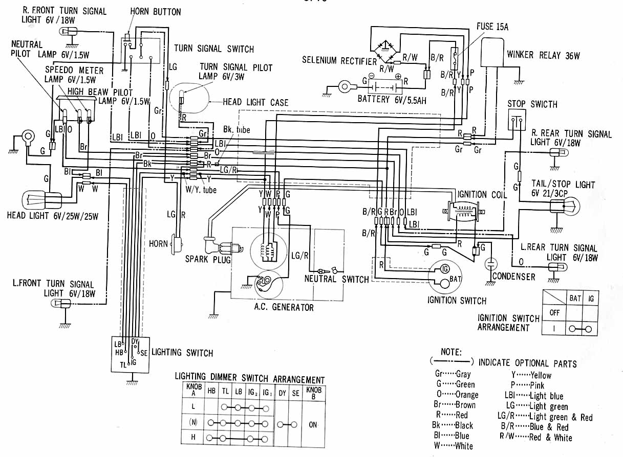 stock xs650 wiring harness diagram