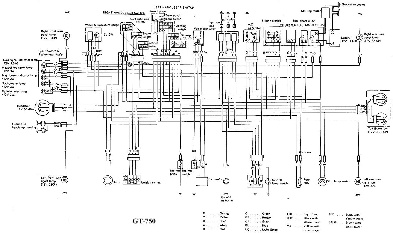 Suzuki Gt550 Wiring Diagram Of Standard Specification