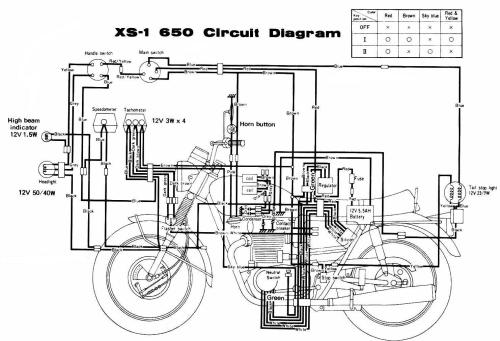 small resolution of 1970 xs1 page 1 wiring diagrams 1970 xs1 page 1 motorcycle electric starter