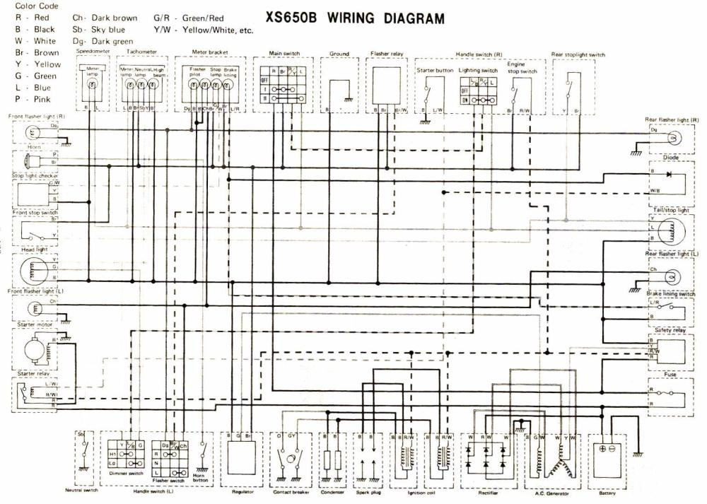 medium resolution of wiring diagram 1981 yamaha xs650 wiring schematic data rh 27 american football ausruestung de 1977 triumph bonneville 1979 yamaha xs650