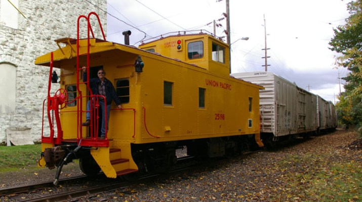 A restored Union Pacific Caboose in the same number lot as Hockessin's 3863.