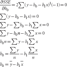 SUPPLEMENT 2: DERIVATION OF SIMPLE REGRESSION FORMULAS FOR