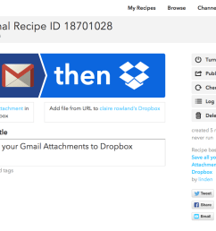 an if this then that recipe for saving gmail attachments to dropbox [ 1083 x 786 Pixel ]