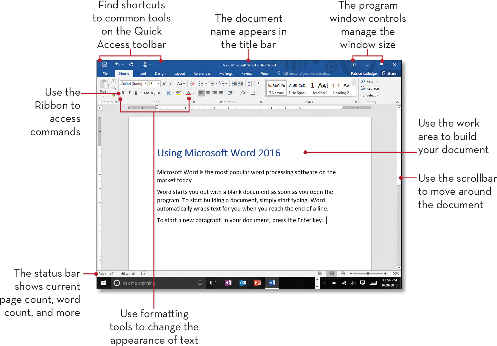 Chapter 7 Creating A Document In Microsoft Word