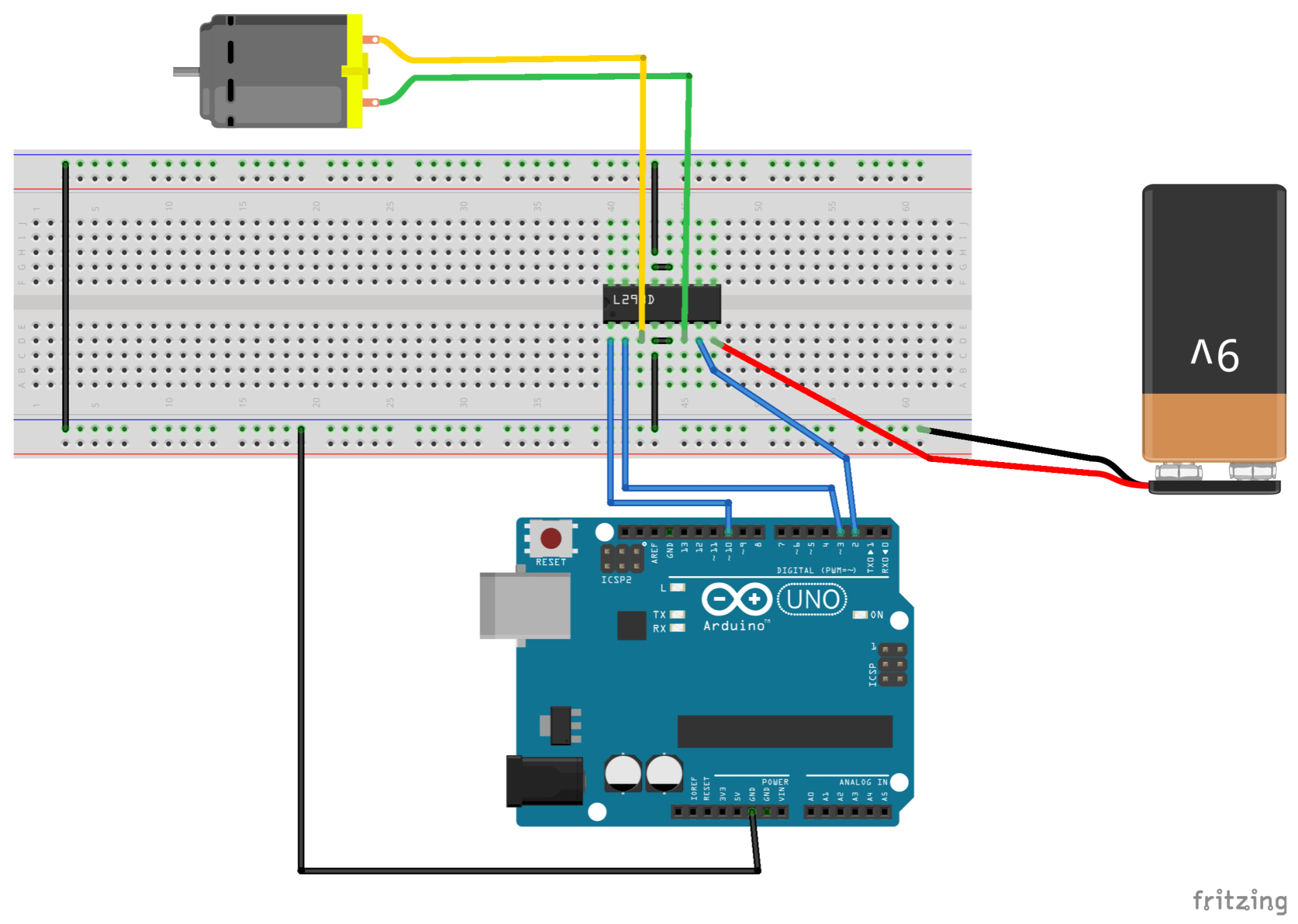 hight resolution of before we explain this diagram let s look at the circuit diagram for the l293d chip circuit as well because there are a lot of similarities between these