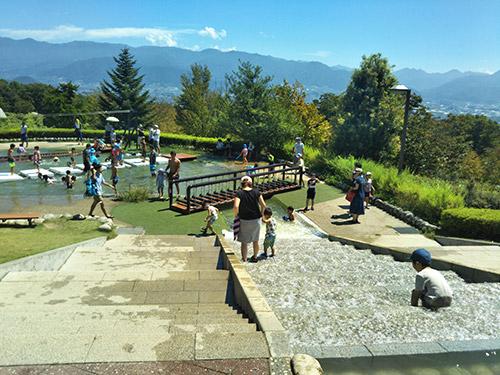 フルーツ公園水遊び