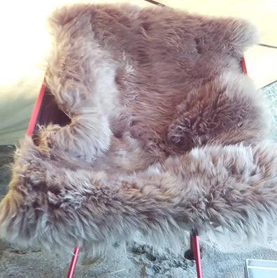 毛皮アウトドア椅子