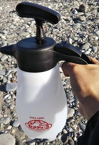 噴霧器で火事予防