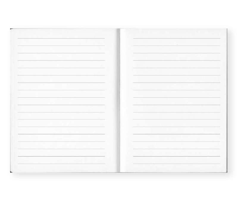 libreta de notas a rayas