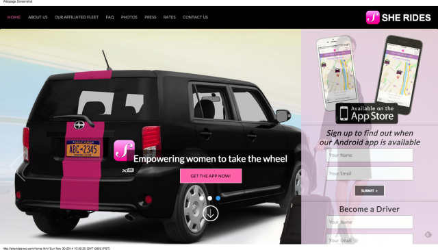 SheRides - The car app focused on the needs of women