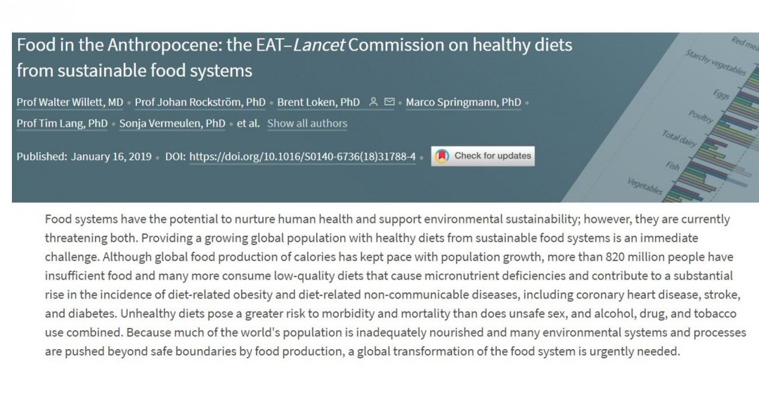 The EAT–Lancet Commission on Diet, Healthspan, and Sustainability