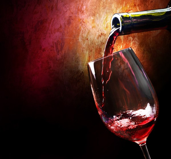 Wine Pouring Painting