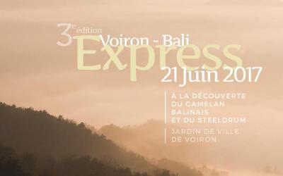 VOIRON-BALI EXPRESS 3ÈME ÉDITION : MERCREDI 21 JUIN 2017