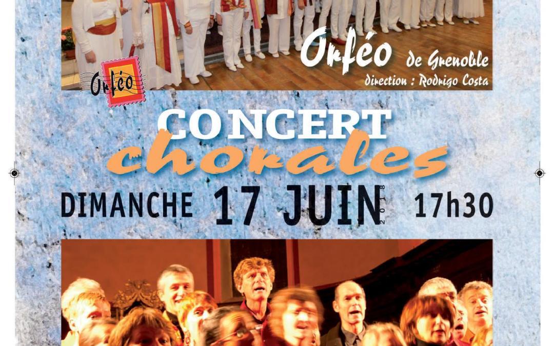 Concert des chorales Orféo et Escales