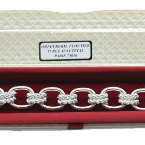 Bracelet argenté grosses mailles