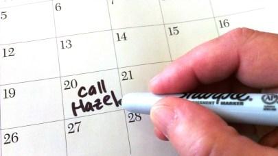 scheduling call Hazel