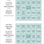SAMPLE Organizing Bingo Cards. CLICK TO ENLARGE