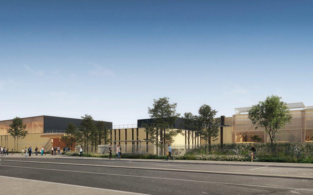 Extension reconstruction collège Toulouse Lautrec