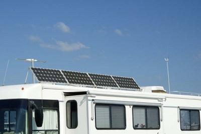 solar panels on RV