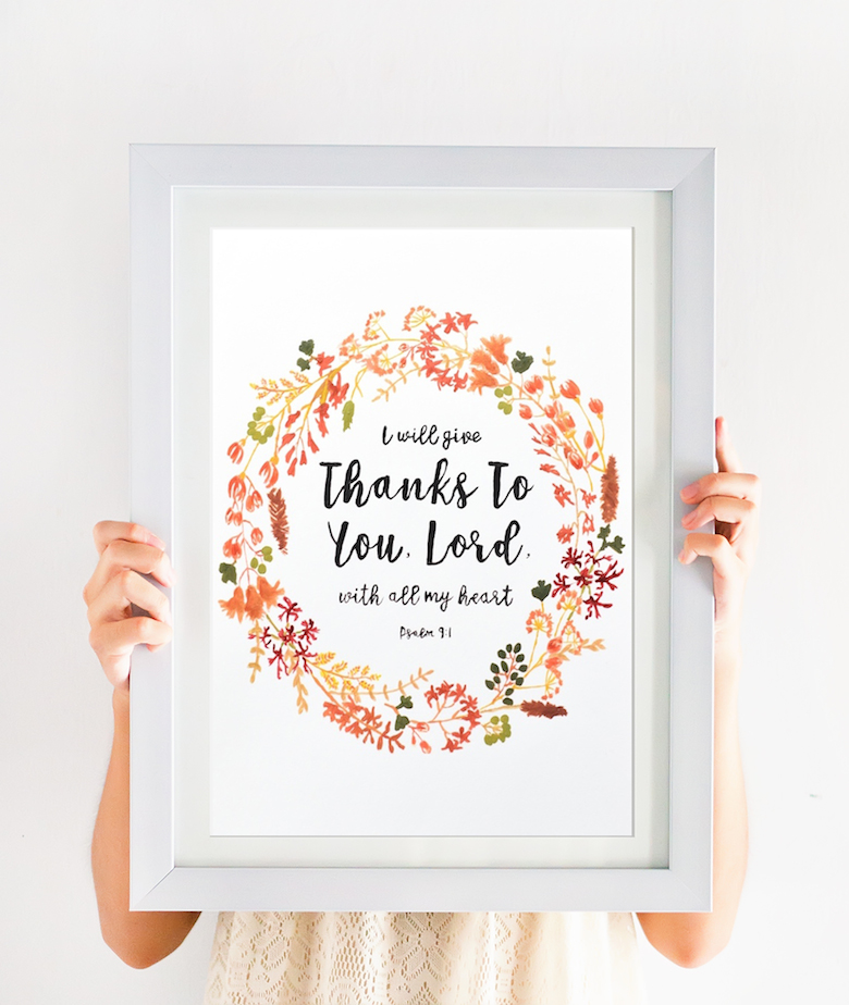 picture about Wall Art Printable referred to as Psalm Wall Artwork + No cost Printable Organic and natural Christian Dwelling