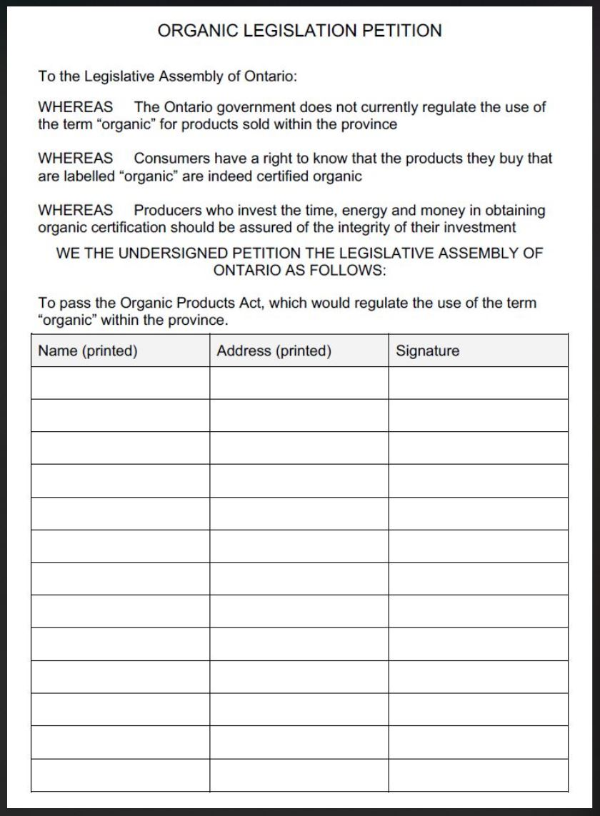 how to make a petition form