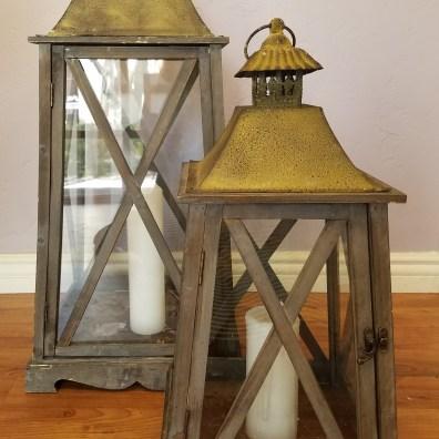 Oversized Rustic Lanterns