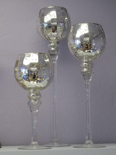 Silver Mercury Stemmed Goblets